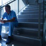 Pfleger in der Pause
